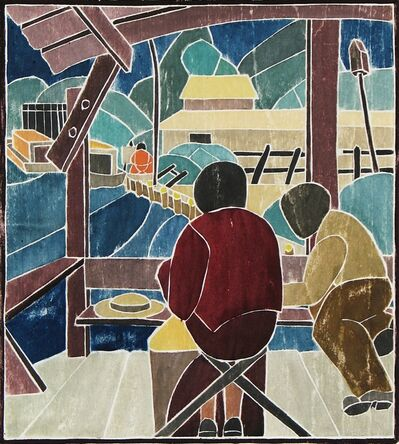 Mabel Hewit, 'Artists Working', ca. 1938