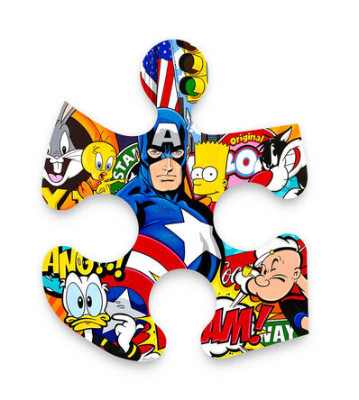 Boudro, 'Captain America and Friends in New York', 2019