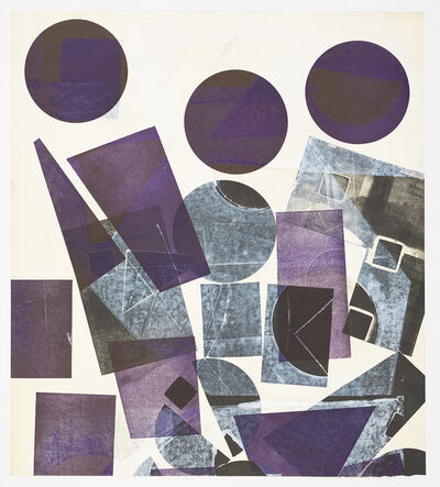 Austin Thomas, 'Three Purple Circles at the Top and black forms upon white surfaces', 2019