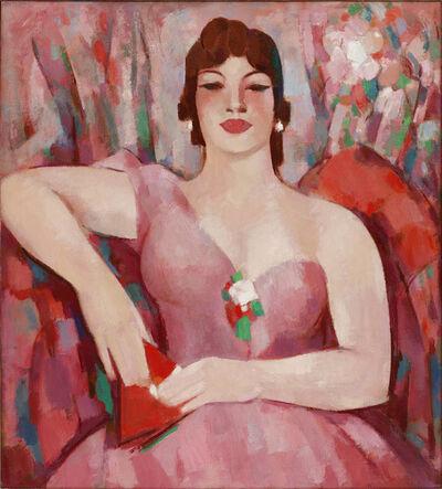 JD Fergusson, 'Martha in Pink', 1953