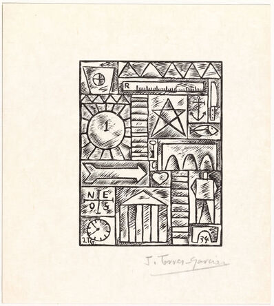 Joaquín Torres-García, 'Untitled, from 23 Gravures', 1934