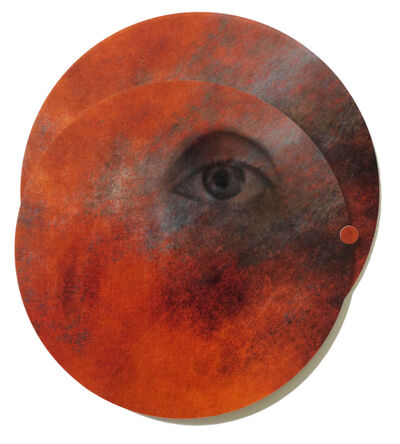 Angelica Bergamini, 'Collage of Eye in Circles: 'Whispers from the Cosmos #9'', 2018