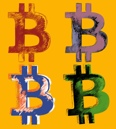 Thomas Hussung & Nicholas Miller, 'BITCOIN Andy Warhol Style', 2017