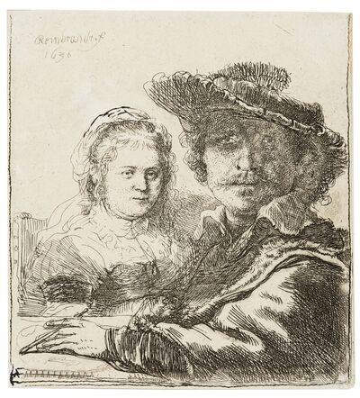 Rembrandt van Rijn, 'Self Portrait with Saskia', 1636