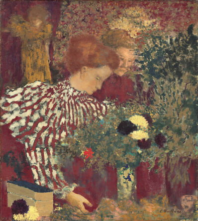 Édouard Vuillard, 'Woman in a Striped Dress', 1895