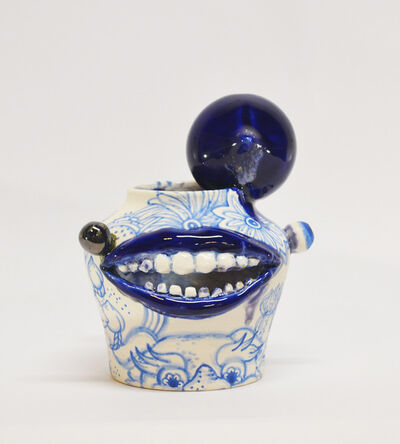 Jiha Moon, 'Peach facejug blue', 2020
