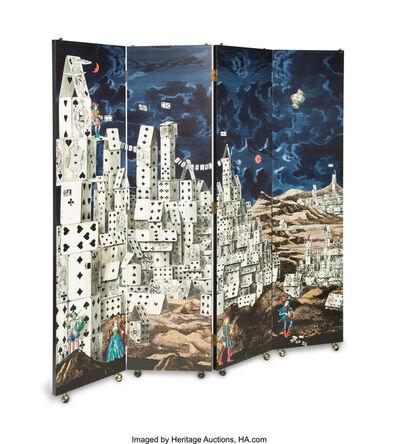 Piero Fornasetti, 'Citta de Carte Folding Screen', designed 1950