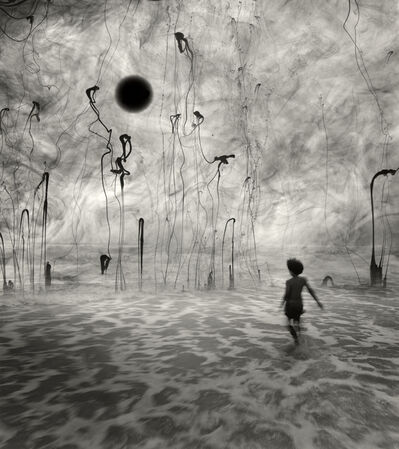 Jerry Uelsmann, 'Untitled (Boy with Water Drips and Dark Sphere)', 2006