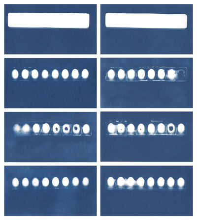 Sarah Irvin, 'Cyanotype Archive: Paint Trays', 2019