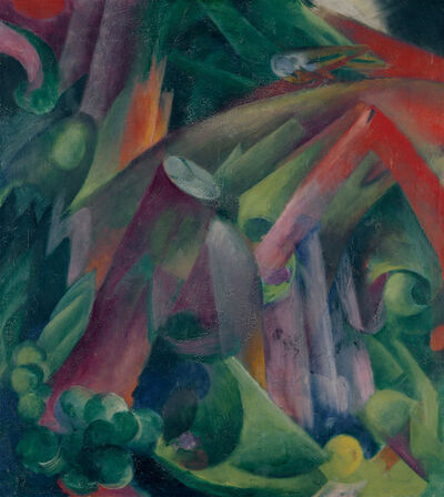 Franz Marc, 'Waldinneres mit Vogel (Inside a Forest with a Bird)', 1912
