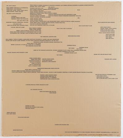 Remy Zaugg, 'Ein Blatt Papier II (SOP 205)', 1973-1985