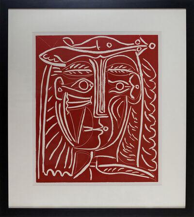 Pablo Picasso, 'Tete De Femme Au Chapeau, Paysage Avec Baigneurs', 1962