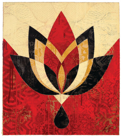Shepard Fairey, 'Bleeding Lotus, Version 4', 2018