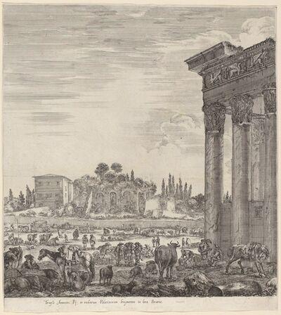 Stefano Della Bella, 'Temple of Antonius and the Campo Vaccino', 1656
