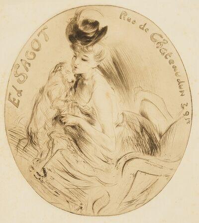 Jacques Villon, 'Adresse Sagot (La Dame au chien) (Ginestet and Pouillon E156)', 1906