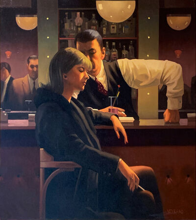 Jack Vettriano, 'Cocktails & Broken Hearts (Original Painting)', 1998