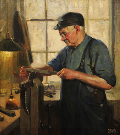 Andrew Loomis, 'Man in His Shop', 1940-1949