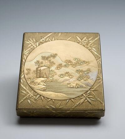 Igarashi Doho, 'Writing Box with Sparrows and Bamboo (T-3126)', Edo period (1615, 1868), ca. 1800