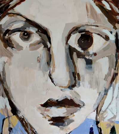 Mie Olise Kjærgaard, 'Yellow-Blue Shirt Girl', 2020
