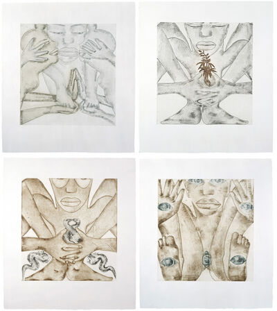 Francesco Clemente, 'Geography (a suite of 4 prints)', 1992