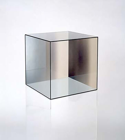 Larry Bell, 'Cube # 32  (Amber / Green)', 2006