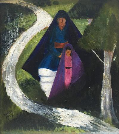 Dorothy Brett, 'Taos Pueblo Mother & Child', 1937