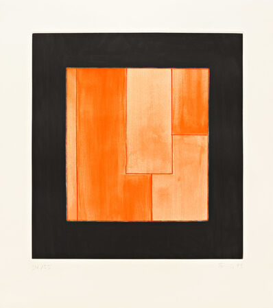 Günther Förg, 'Untitled (Orange/Black)', 1993