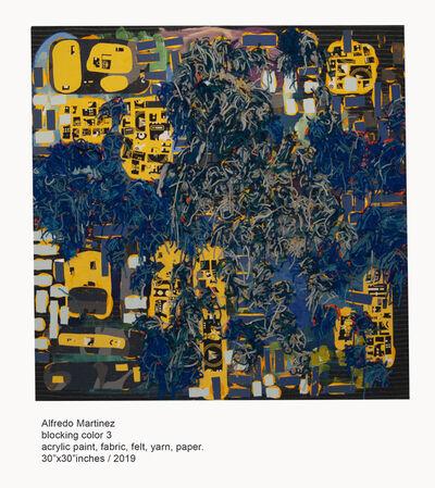Alfredo Martinez, 'Block color 3 ', 2019
