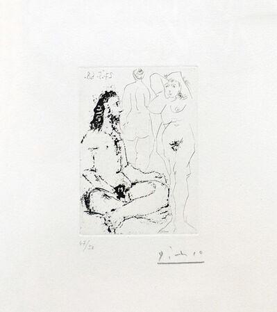 Pablo Picasso, 'HOMME NU ASSIS EN TAILLEUR (BLOCH 1600)', 1968