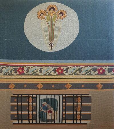 Max Ernst, 'Uccello oltre la sbarra - Tapestry '