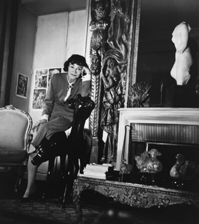 Louise Dahl-Wolfe, 'Coco Chanel Leaning on Chair in her Apartment, Paris', 1954