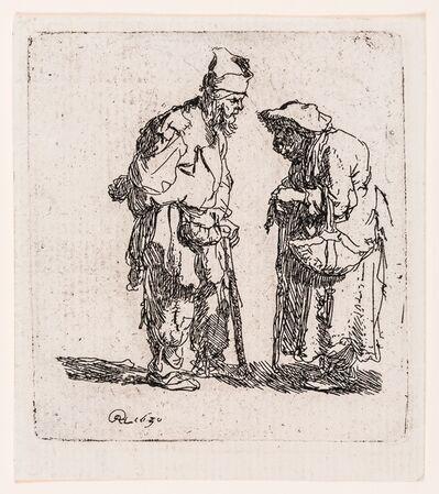 Rembrandt van Rijn, 'Beggar Man and Beggar Woman Conversing', 1630