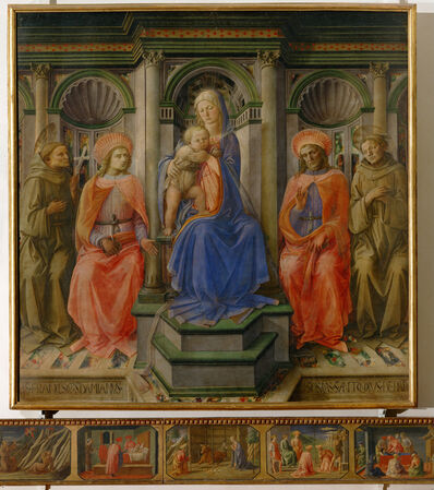 Fra Filippo Lippi, 'Madonna and Child Enthroned with Four Saints', ca. 1422