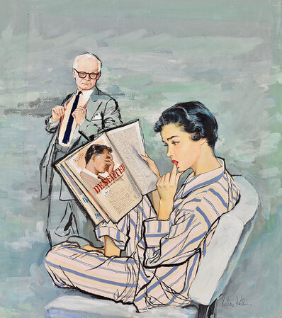 Victor Kalin, 'A Riveting Read', 1940-1949