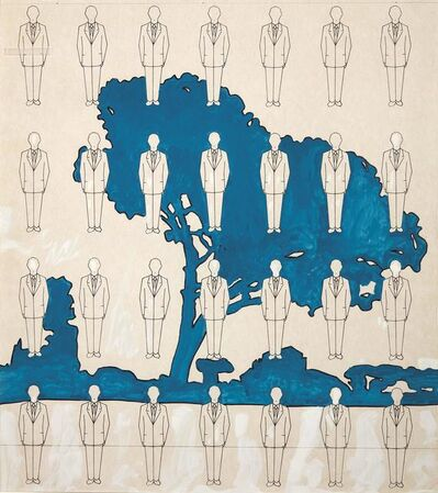 Renato Mambor, 'Man and landscape', executed in 1978