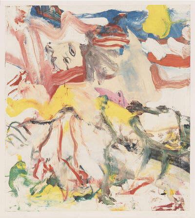 Willem de Kooning, 'Figures in Landscape VI', 1980