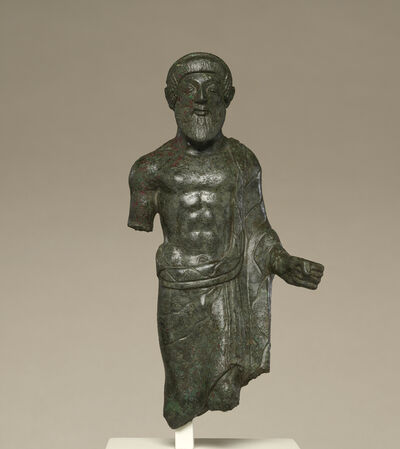 'Statuette of a Bearded Man, Probably Tinia', ca. 480 BCE