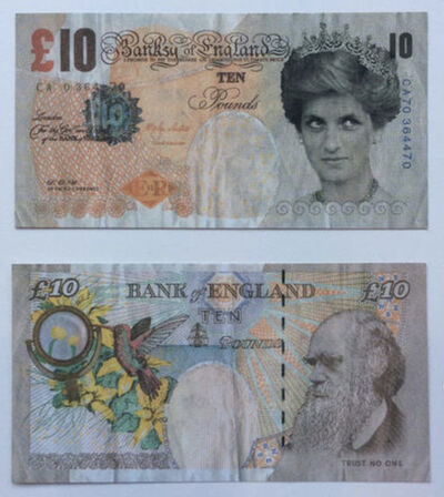 Banksy, 'Difaced Tenner', 2004