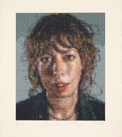 Chuck Close, 'Cecily / Felt Hand Stamp', 2012