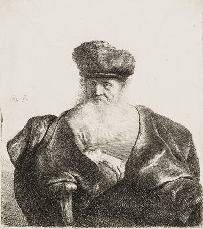 Rembrandt van Rijn, 'An Old Man with Beard, Fur Cap and Velvet Coat', circa 1632