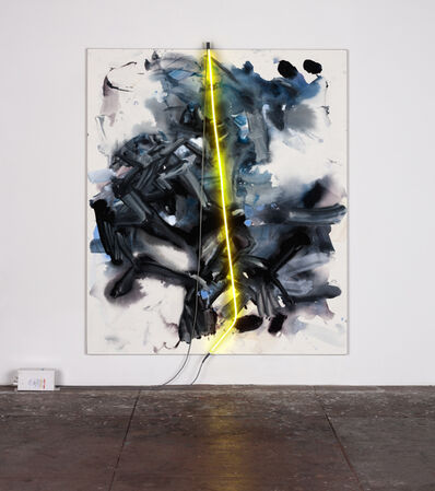 Mary Weatherford, 'night, yellow light', 2015