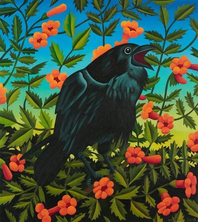 Billy Hassell, 'HARBINGER, Crow and Trumpet Vine', 2018