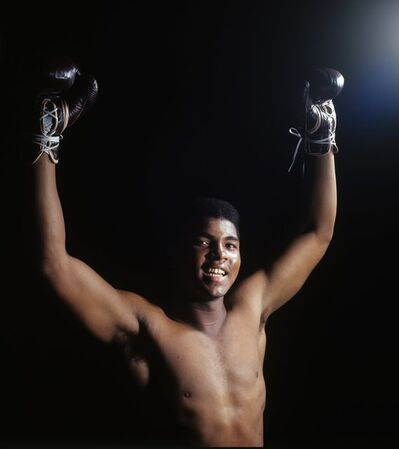 Neil Leifer, 'Ali with Arms Raised', 1965