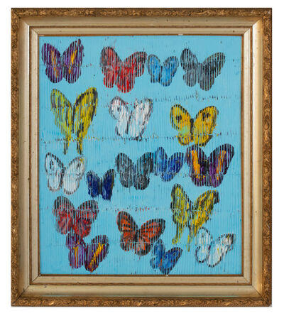 Hunt Slonem, 'Butterflies on sky blue', 2018