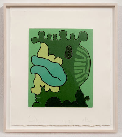 Carroll Dunham, '2nd Green Reduction Print', 1994-1995