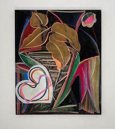 Aurélie Gravas, 'Black painting 2 (les trois palettes)', 2021