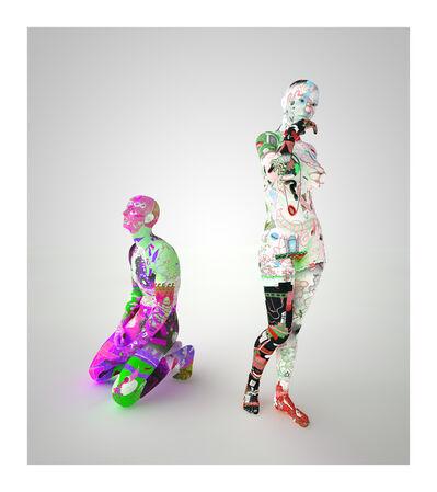 Tim Berresheim, 'Aspettatori (gradient) VI', 2014
