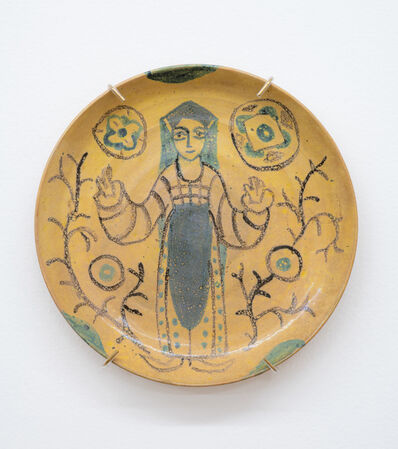 Beatrice Wood, 'Untitled (Small plate with painted figures)', ca. 1960