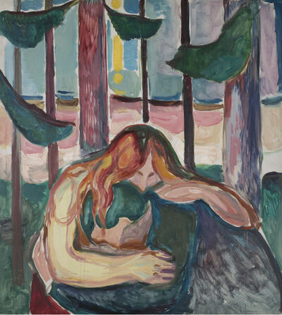 Edvard Munch, 'Vampire in the Forest', 1916-1918