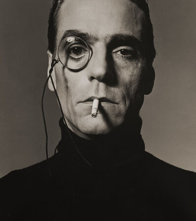 Michel Comte, 'Jeremy Irons with Monocle', 1990